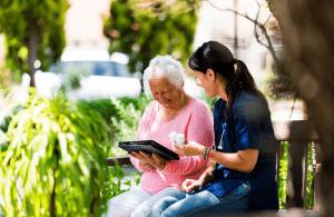 Seniors enjoy their time at the Lynn valley residence.