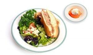 Sandwhich | Pulled Pork | Salad | Dinner at Lynn Valley Senior care housing | North Vancouver | Dessert | Sandwich |