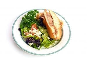 Sandwhich | Pulled Pork | Salad | Dinner at Lynn Valley Senior care housing | North vancouver